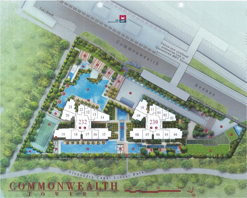 commonwealth towers siteplan