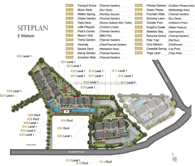 The Maisons Site Plan 1