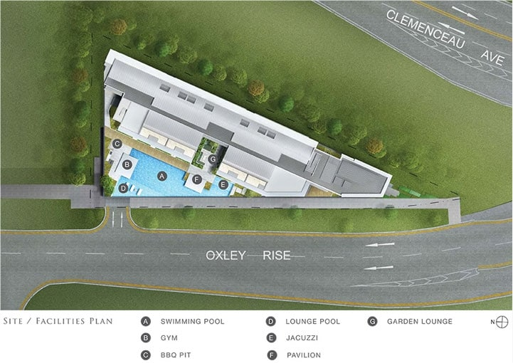 The Rise @ Oxley siteplan