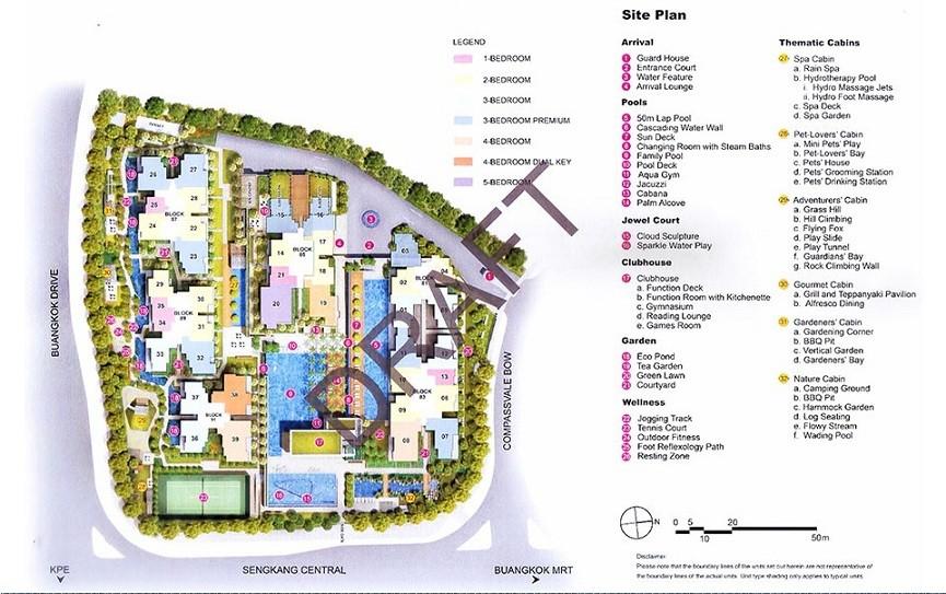 Jewel at Buangkok Site Plan