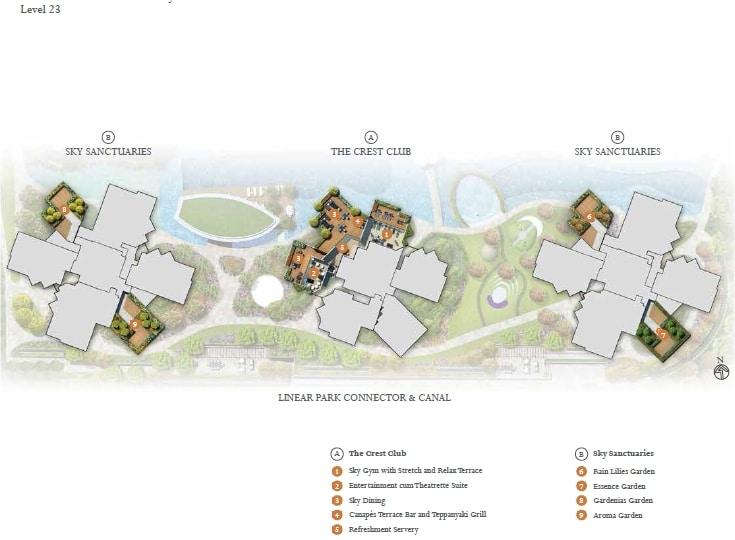 The Crest siteplan 1