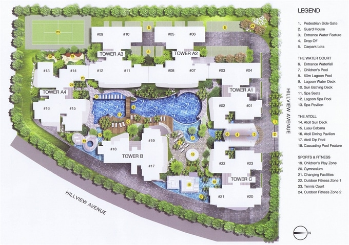 The Lanai Site Plan