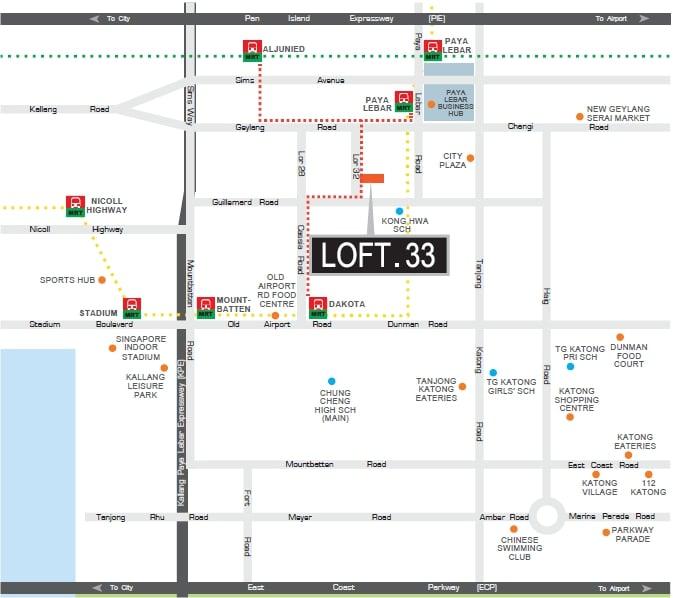 Loft 33 Map